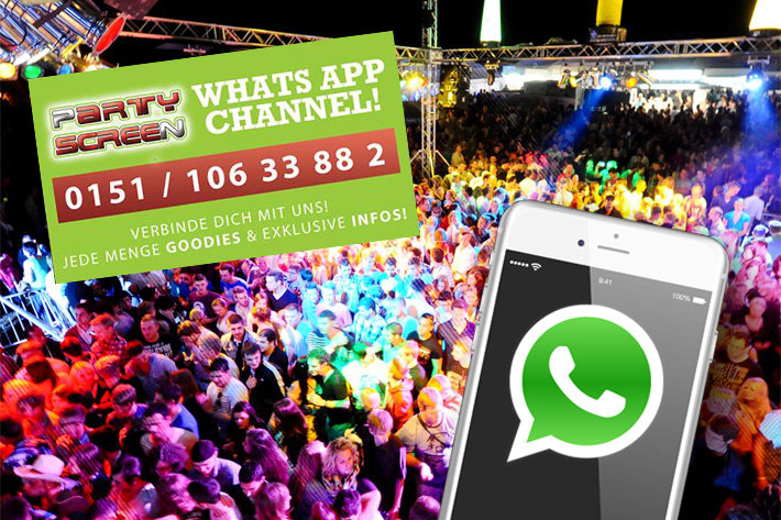 Die Party-Highlights direkt auf Dein Smartphone - WhatsApp Channel