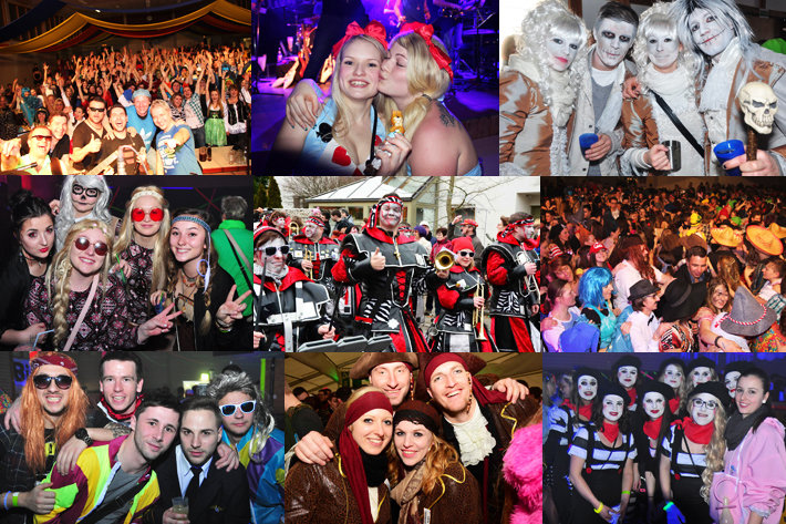 Fasching im Party-Screen-Land - die besten Feten