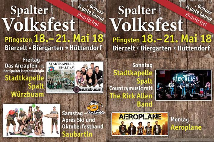 Spalter Volksfest vom 18. bis 21. Mai